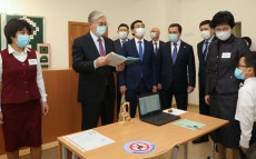 The Head of State visits new school in Karaganda