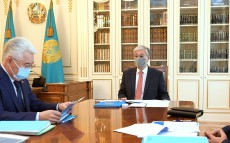 The President receives Minister of Industry and Infrastructure Development Beibut Atamkulov
