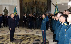 Nursultan Nazarbayev visits National Military-Patriotic Center
