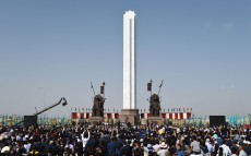 "Participation in the opening ceremony of the monument ""550th anniversary of the Kazakh Khanate"""