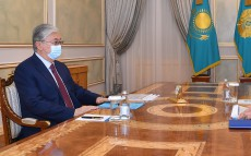 The Head of State receives Chairman of the Financial Monitoring Agency Zhanat Elimanov