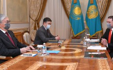 The President receives Kaspi.kz founders