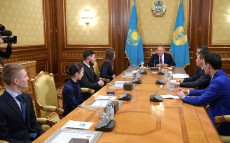 Meeting with winners and prize holders of international sports competitions