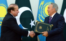 Joint briefing after the talks of the President of Kazakhstan and Prime Minister of Pakistan