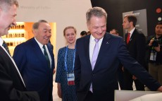 Visit to National Pavilion of Finland with Sauli Niinisto, President of the Republic of Finland