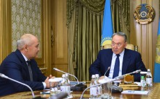 Meeting with Chairman of the Board of JSC Samruk-Kazyna Umirzak Shukeyev