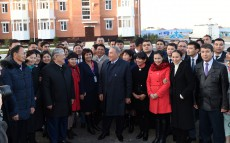 President Nursultan Nazarbayev got acquainted with the pace of construction of public welfare housing in the district Arai-2