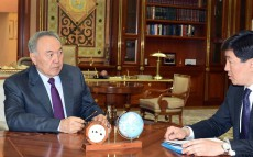 Meeting with Mayor of Almaty Bauyrzhan Baibek