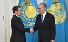 The President of Kazakhstan meets with Deputy Chairman of the Security Council of the Russian Federation Dmitry Medvedev