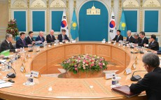 President of Kazakhstan Kassym-Jomart Tokayev holds talks with President of South Korea Moon Jae-in in expanded format