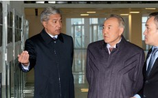 Today President Nursultan Nazarbayev Surveys Kazakhstan History Museum under Construction