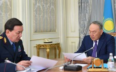 Meeting with Kalmukhanbet Kasymov, Minister of Internal Affairs