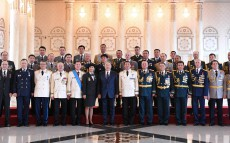 Participation in the ceremony of awarding the highest military and special ranks, class ranks and state awards